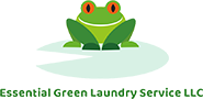 Essential Green Laundry Service Logo